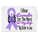 Héroe de la cinta del cáncer en mi vida mi cuñada felicitacion