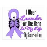 Héroe de la cinta del cáncer en mi vida mi cuñada postal