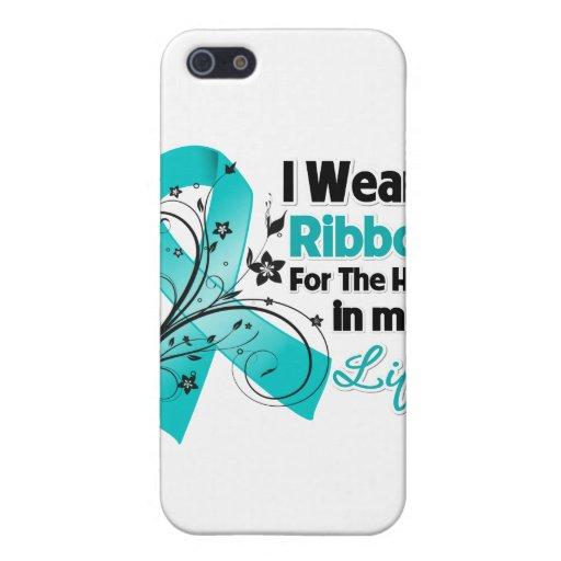 Héroe de la cinta del cáncer ovárico en mi vida iPhone 5 carcasa