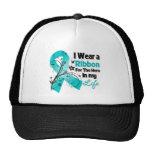 Héroe de la cinta del cáncer ovárico en mi vida gorras