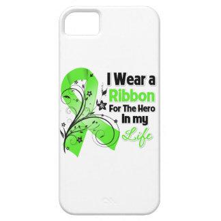 Héroe de la cinta del linfoma de Non-Hodgkins en iPhone 5 Funda