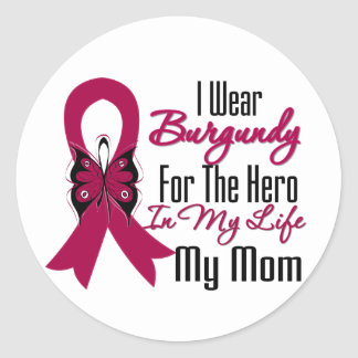 Héroe de la cinta del mieloma mi mamá pegatina redonda