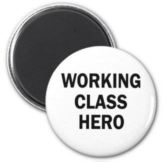Héroe de la clase obrera imán redondo 5 cm