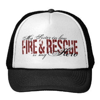 Héroe de la cuñada - fuego y rescate gorros bordados