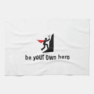 Héroe de la escalada toalla de mano