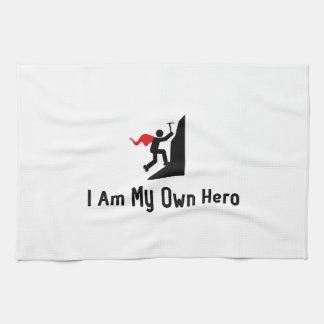 Héroe de la escalada toallas