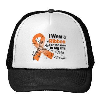 Héroe de la esposa en mi leucemia de la vida gorras
