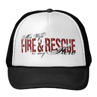 Héroe de la esposa - fuego y rescate gorro