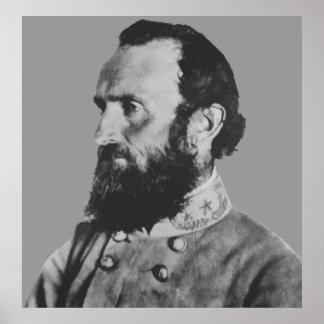 Héroe de la guerra civil -- General Stonewall Jack Póster