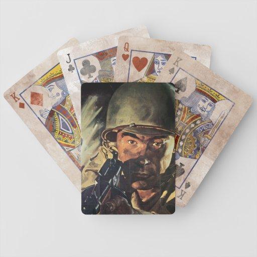 Héroe de la guerra del vintage baraja cartas de poker