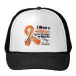 Héroe de la hermana en mi leucemia de la vida gorros bordados