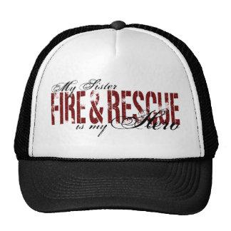 Héroe de la hermana - fuego y rescate gorros