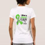 Héroe de la mamá en mi cinta del linfoma de la vid camiseta