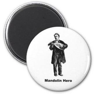 Héroe de la mandolina imán redondo 5 cm