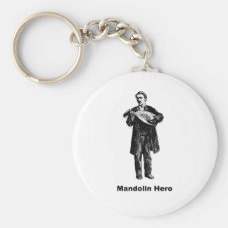 Héroe de la mandolina llavero personalizado