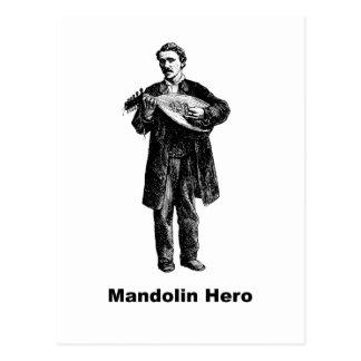 Héroe de la mandolina postal