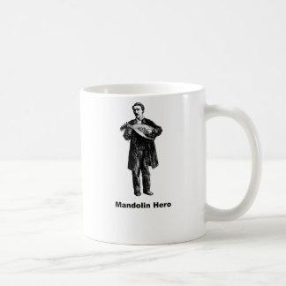 Héroe de la mandolina taza básica blanca