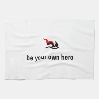 Héroe de la natación toallas