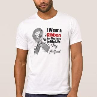 Héroe de la novia en mi cáncer de cerebro de la vi camisetas