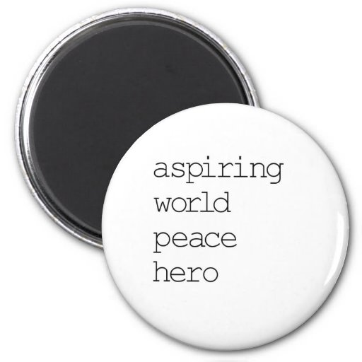 Héroe de la paz de mundo iman de frigorífico