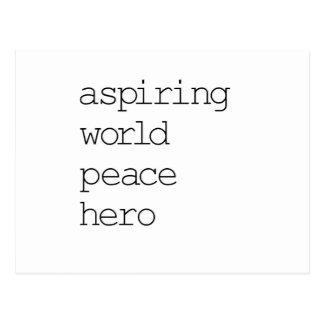 Héroe de la paz de mundo postal
