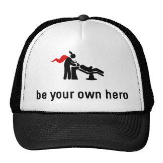 Héroe de la peluquería gorras de camionero