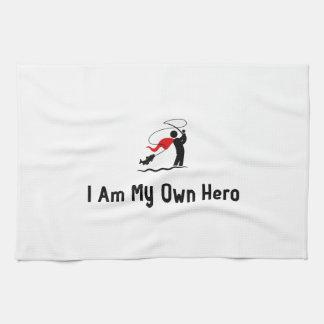Héroe de la pesca con mosca toalla de mano