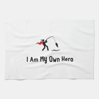 Héroe de la pesca toallas