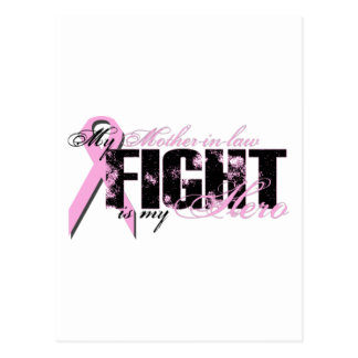 Héroe de la suegra - cáncer de pecho de la lucha tarjetas postales