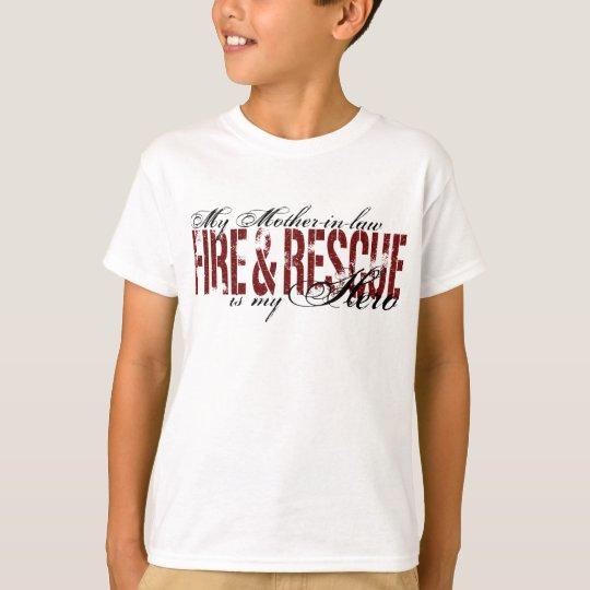 Héroe de la suegra - fuego y rescate playera