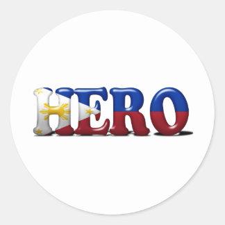 Héroe de Pinoy Pegatina Redonda