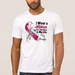 Héroe del abuelo en mi cáncer del cuello de la cab camisetas