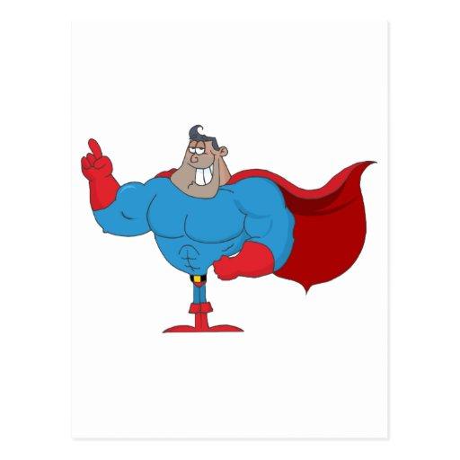 Héroe del afroamericano del dibujo animado tarjetas postales
