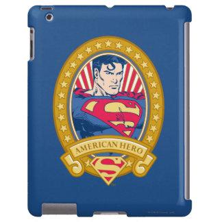 Héroe del americano del superhombre funda para iPad