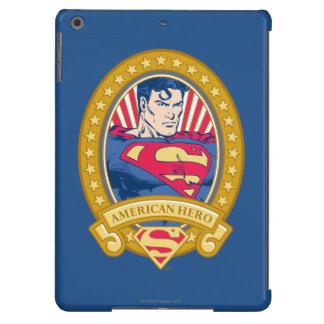 Héroe del americano del superhombre funda para iPad air