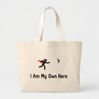 Héroe del bumerán bolsa tela grande
