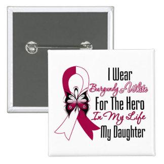 Héroe del cáncer de cabeza y cuello mi hija pins