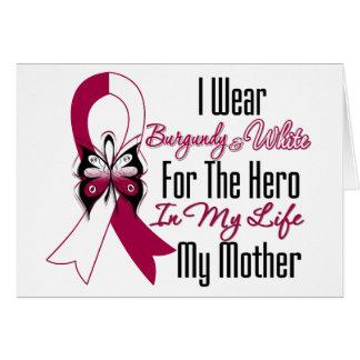 Héroe del cáncer de cabeza y cuello mi madre tarjeta de felicitación
