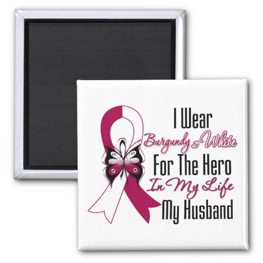 Héroe del cáncer de cabeza y cuello mi marido imán