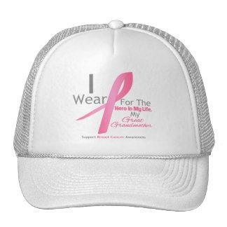 Héroe del cáncer de pecho - bisabuela gorras