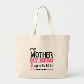 Héroe del cáncer de pecho (madre) bolsas de mano