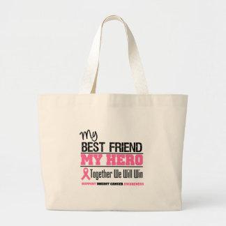 Héroe del cáncer de pecho (mejor amigo) bolsas