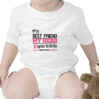 Héroe del cáncer de pecho (mejor amigo) traje de bebé