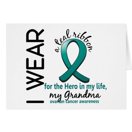 Héroe del cáncer ovárico en mi abuela 4 de la vida tarjeta