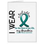 Héroe del cáncer ovárico en mi abuela 4 de la vida felicitacion