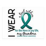 Héroe del cáncer ovárico en mi abuela 4 de la vida postal