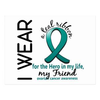 Héroe del cáncer ovárico en mi amigo de la vida 4 postal