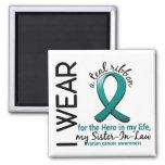 Héroe del cáncer ovárico en mi cuñada 4 de la vida iman para frigorífico