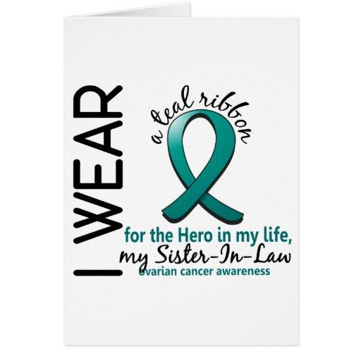 Héroe del cáncer ovárico en mi cuñada 4 de la vida tarjeta