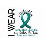 Héroe del cáncer ovárico en mi cuñada 4 de la vida postal